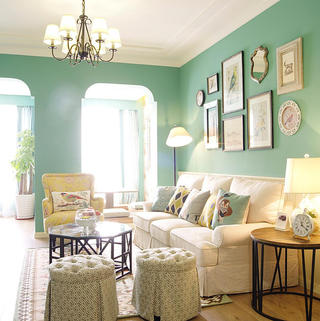 美式二居空间 绿色清新小家
