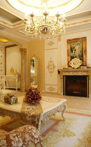 欧式奢华风格别墅装修壁炉设计