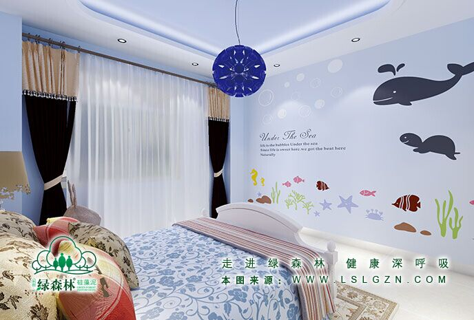 绿森林硅藻泥(儿童房)图片