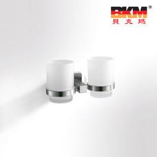 贝克玛卫浴 五金挂件 BKM-WJ0209GL 牙刷杯 双杯 SUS304不锈钢 拉丝|【SUS304不锈钢】厂家直销