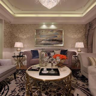 110平现代奢华二居装修效果图