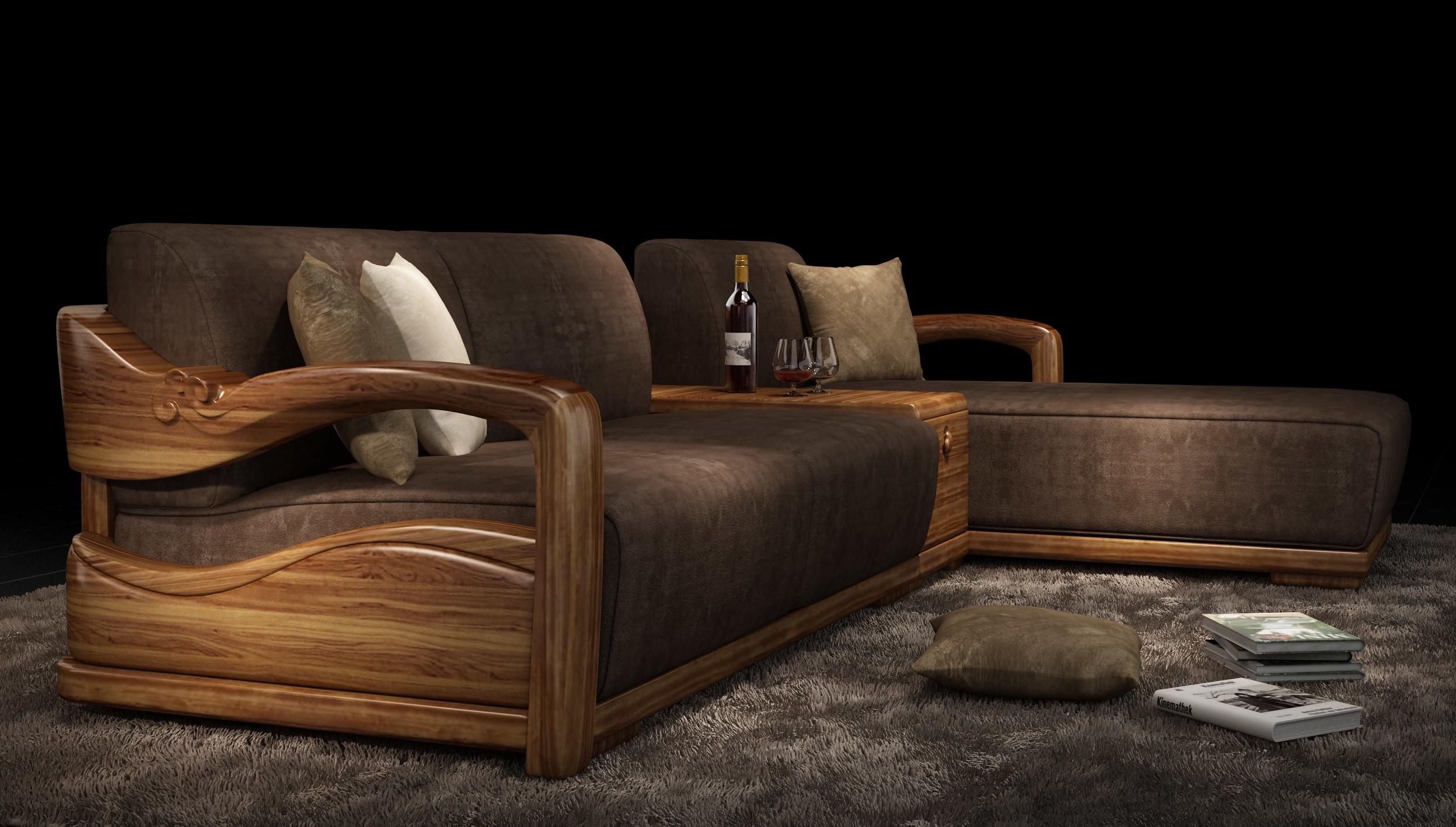 实木布艺沙发/l型/躺床/储物/3400*1900*830
