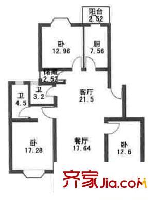 上海 星林苑 户型图