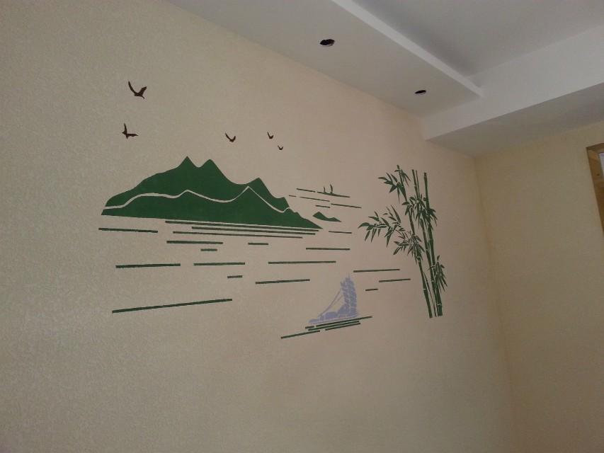 家装主材 墙纸/壁纸/艺术背景墙 艺术背景墙 硅藻泥 兰舍硅藻泥中式图片