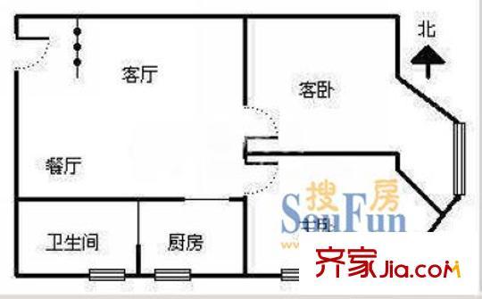 上海 钦州公寓 户型图