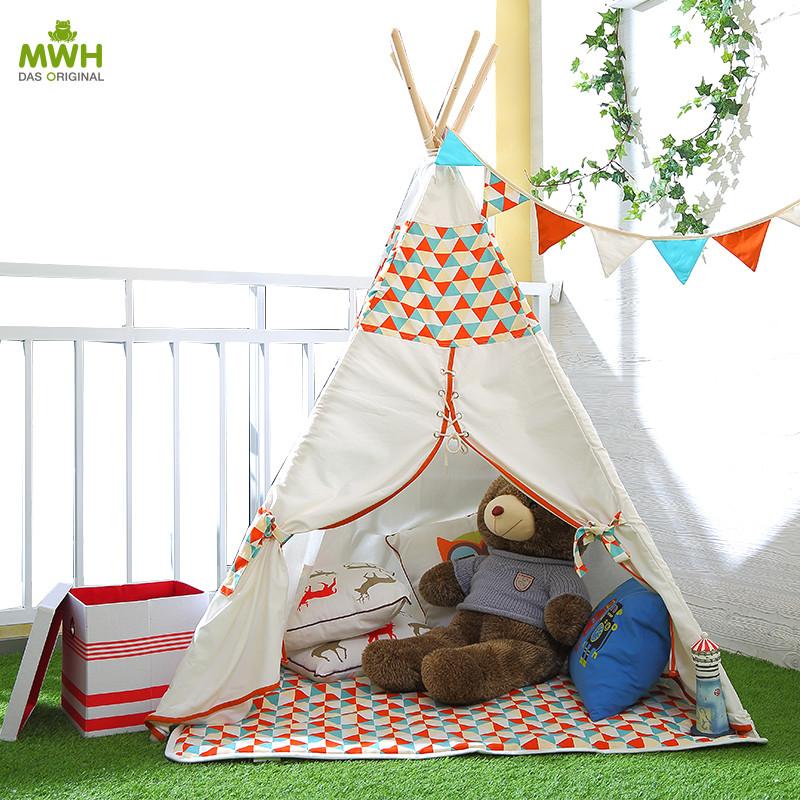 MWH儿童帐篷-印第安帐篷带收纳袋(整套)/红色/蓝色7010001-7010002