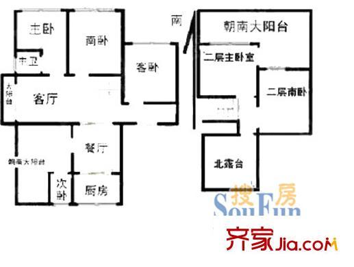 上海 绿海家园 户型图