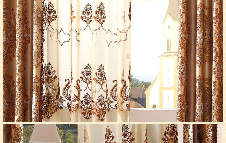 摩力克 定制欧式窗帘 提花落地窗帘 客厅 高端卧室窗帘布
