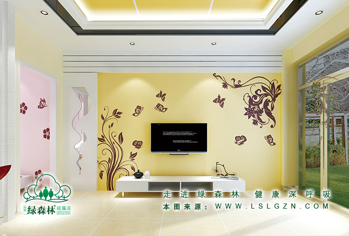 绿森林硅藻泥电视墙【图片 价格 品牌 评论】-涂料(漆