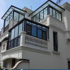 【万增门窗品牌阳光房】美亚宝型材阳光房顶楼露台平顶 铝合金阳光房