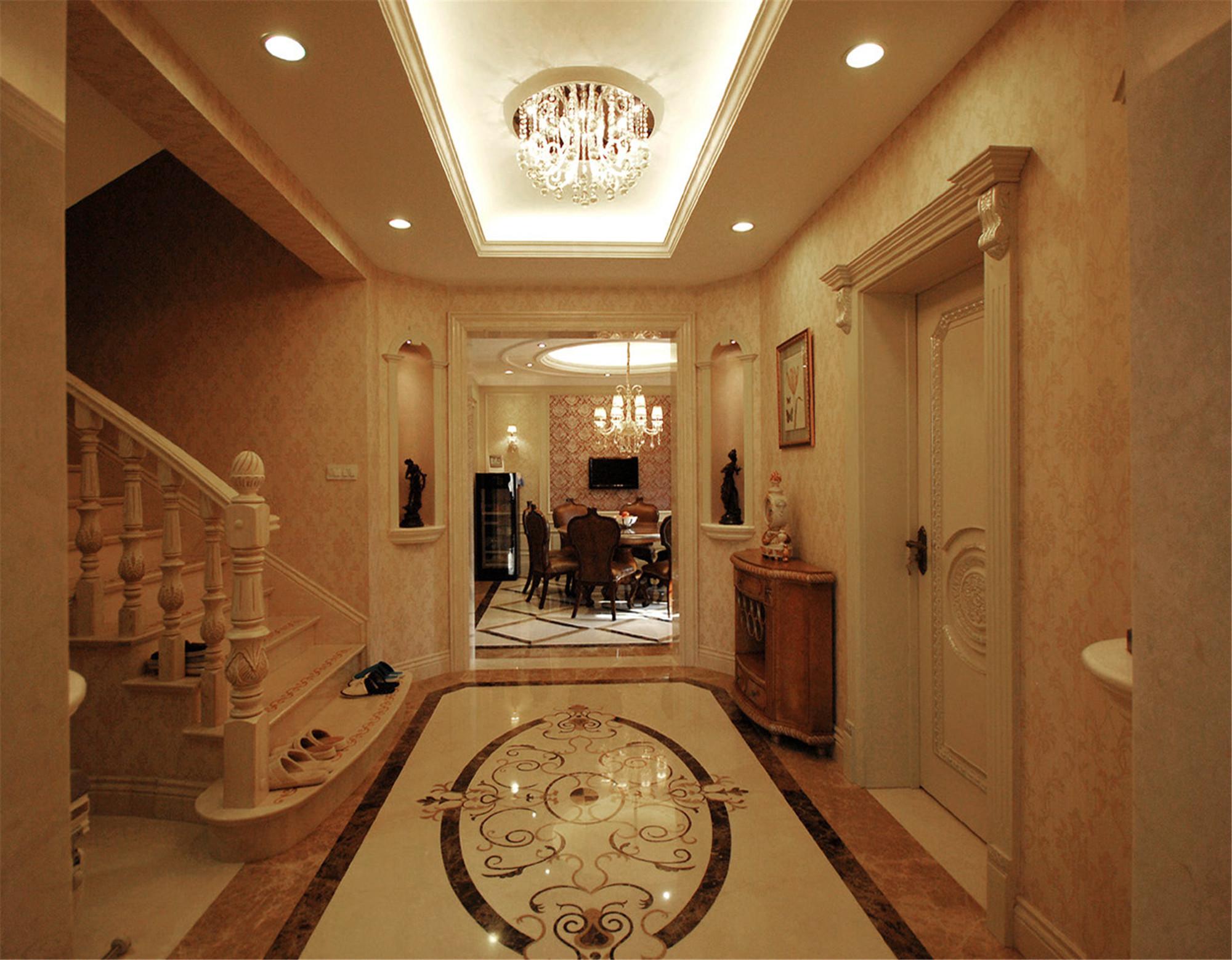 欧式田园风格一层别墅舒适设计图_齐家网装修效果图