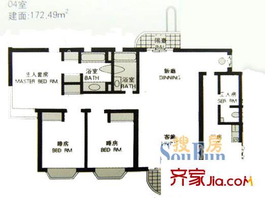 上海 恒昌花园 户型图