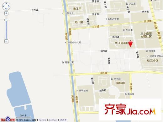 天津华江里交通图-齐家网同学库群小学小区名字图片