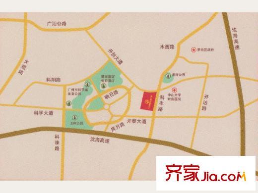 广州萝岗万达广场交通规划图