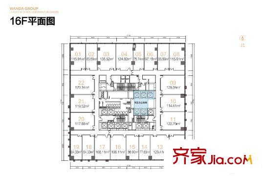 郑州郑州万达中心户型图-齐家网小区库