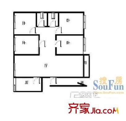 范家边户型图四室一厅 4室1厅1卫1厨