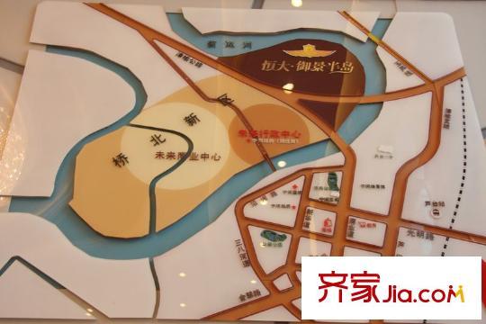 天津恒大御景半岛交通图-齐家网小区库