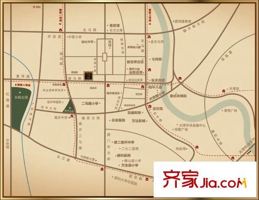 天津九州国际户型图,装修效果图,实景图,交通图,配套