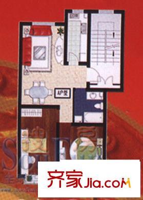 青岛山别墅园户型实景图,装修效果图,水景图,交吗买能刘集的别墅图片