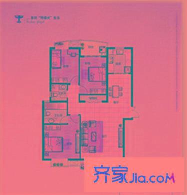 中原新城观澜一号 3室 户型图