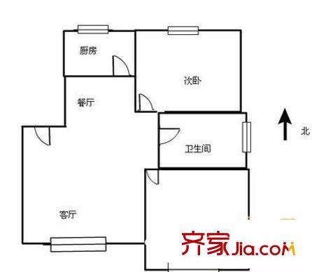 升龙国际中心 2室 户型图
