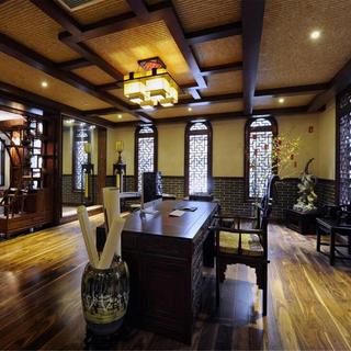中式美式混搭别墅装修实景图