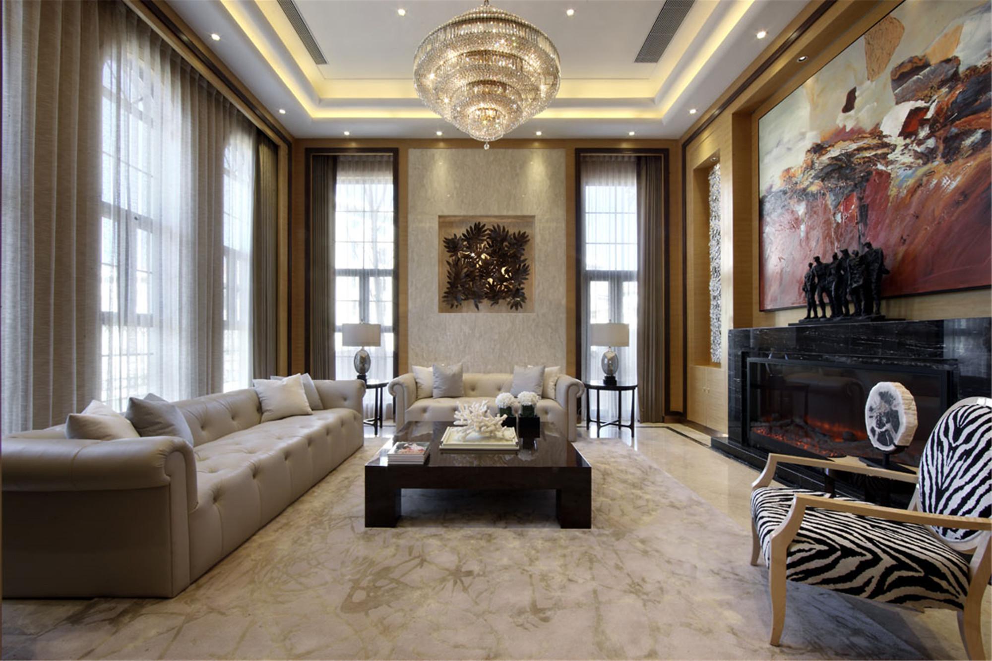 装修效果图 家居美图 混搭风格别墅经济型80平米客厅沙发海外家居  收