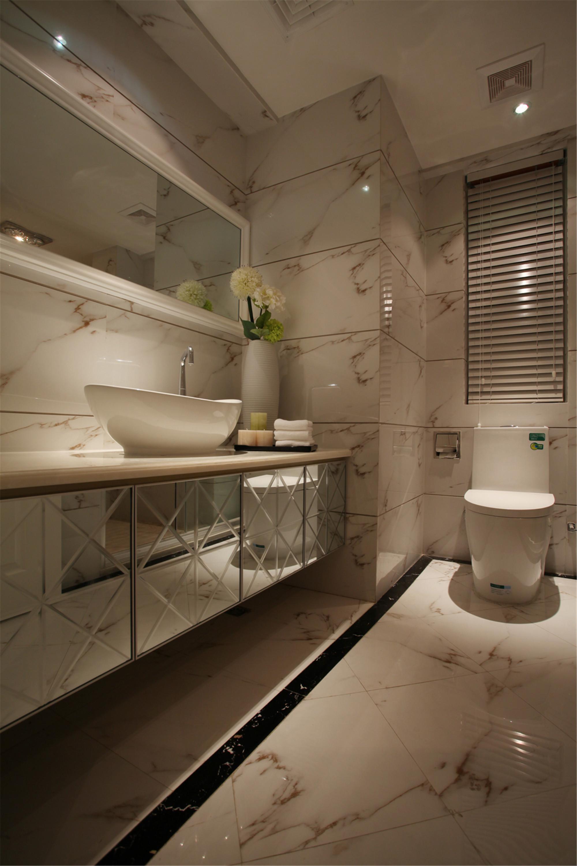 装修效果图 家居美图 欧式风格二居室古典白色富裕型卫生间背景墙洗手