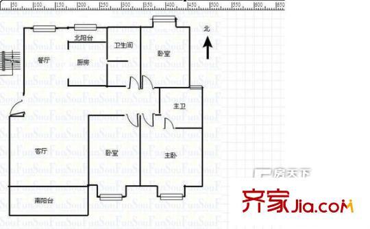 员工宿舍装修平面图
