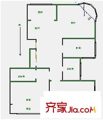 碧海云天 3室 户型图