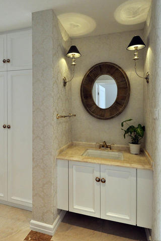欧式风格客厅富裕型140平米以上洗手台图片