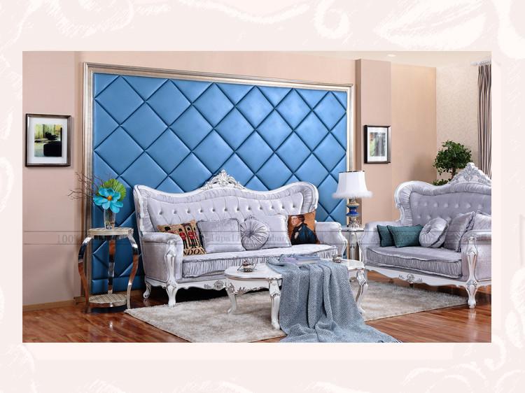 鹿牌菱形硬包背景墙定制欧式客厅沙发卧室床头电视软包墙面后背景