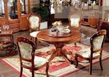 6318歺桌加6把皮歺椅1米3