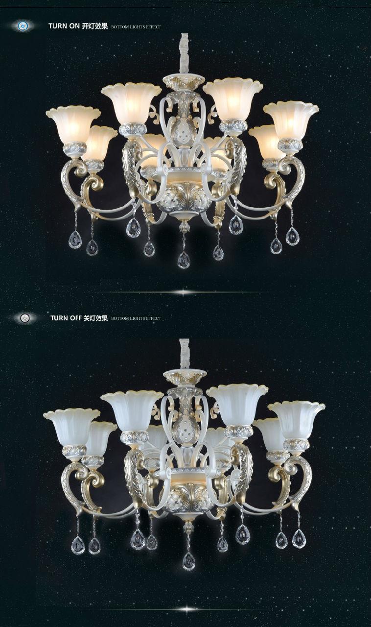雷士客厅吊灯欧式客厅简约餐厅灯简欧卧室水晶美式吊灯led吸顶灯8欧式