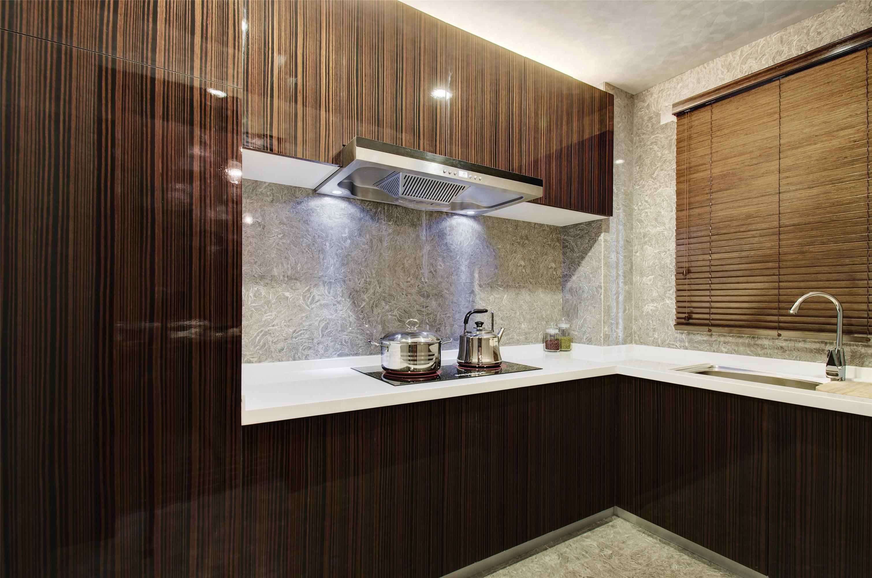 时尚高端中式风格厨房设计装潢图