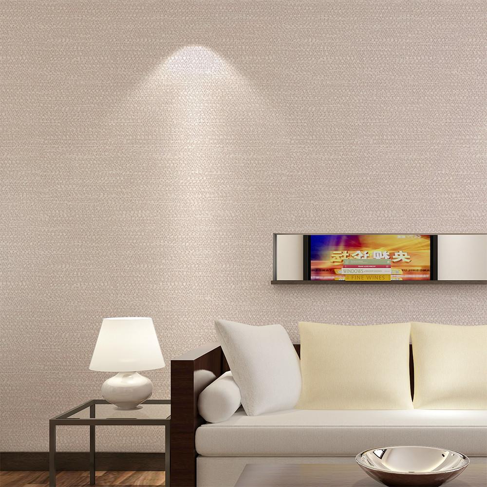 天洋免胶无缝墙布纯色素色现代简约卧室客厅壁布酒店ktv工程墙纸f1005