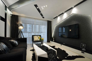 110平现代简约装修客厅效果图