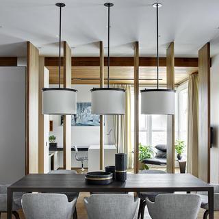 130平三居室装修 现代感十足