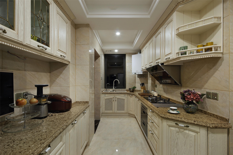 新古典风格5平方厨房品牌小家电效果图