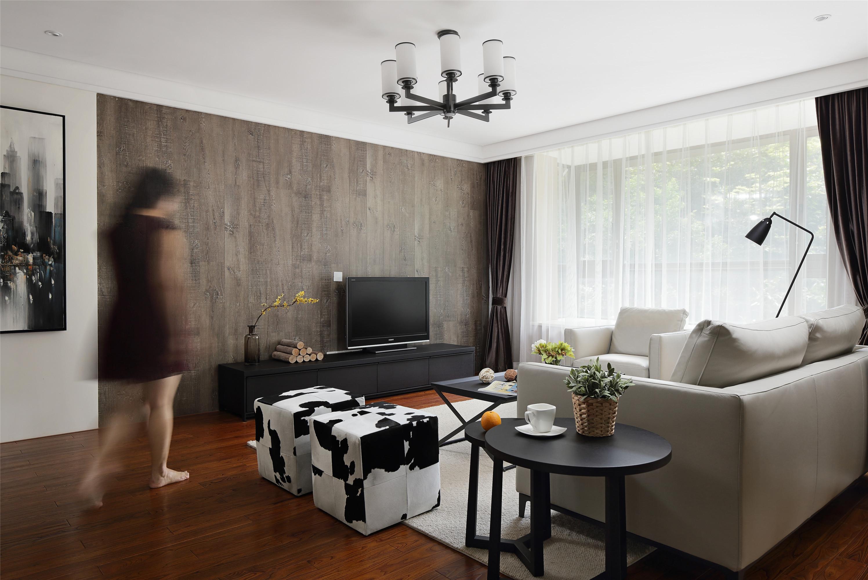 简约风格公寓舒适富裕型130平米吧台椅效果图