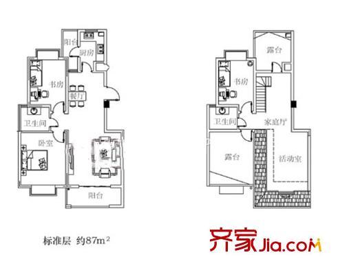 和顺东方花园户型图g1风景2房 2室2厅1卫1厨