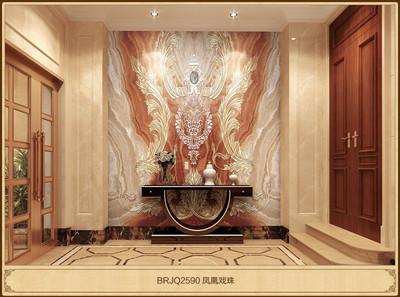 电视3d背景墙瓷砖 仿大理石微晶石 现代客厅墙砖墙面砖
