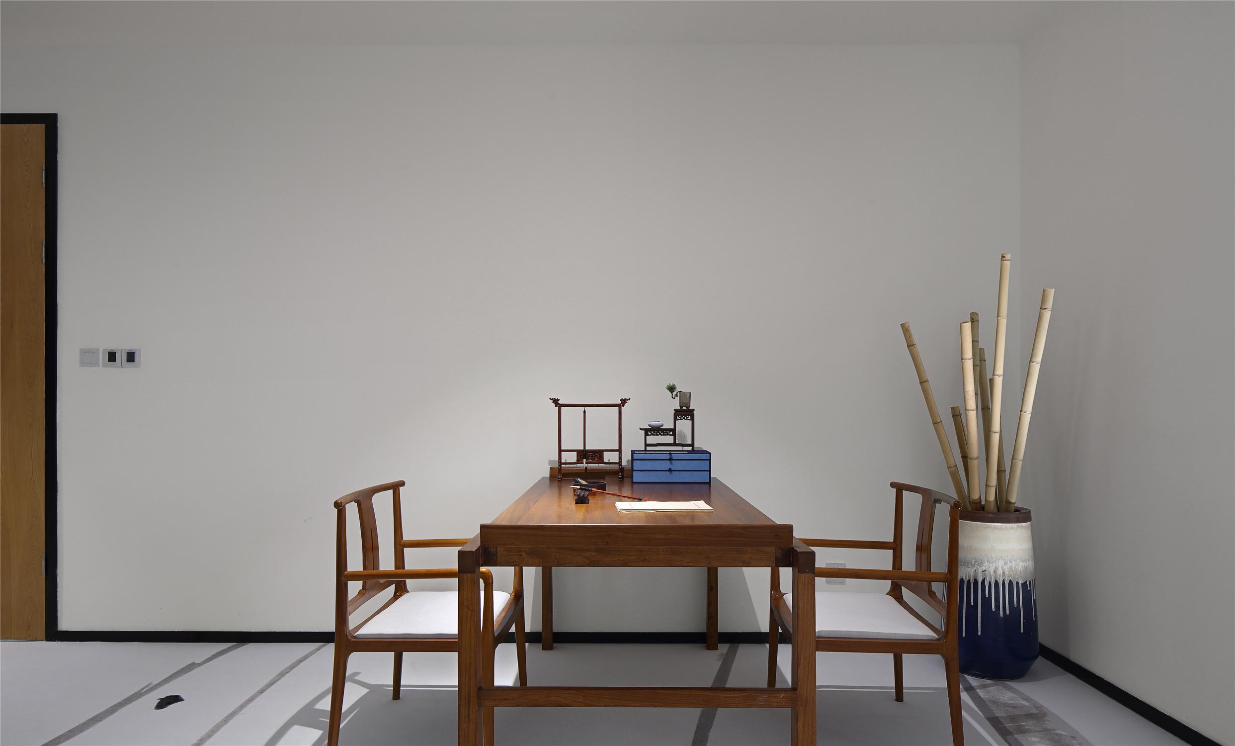 文化工作室装修书房效果图