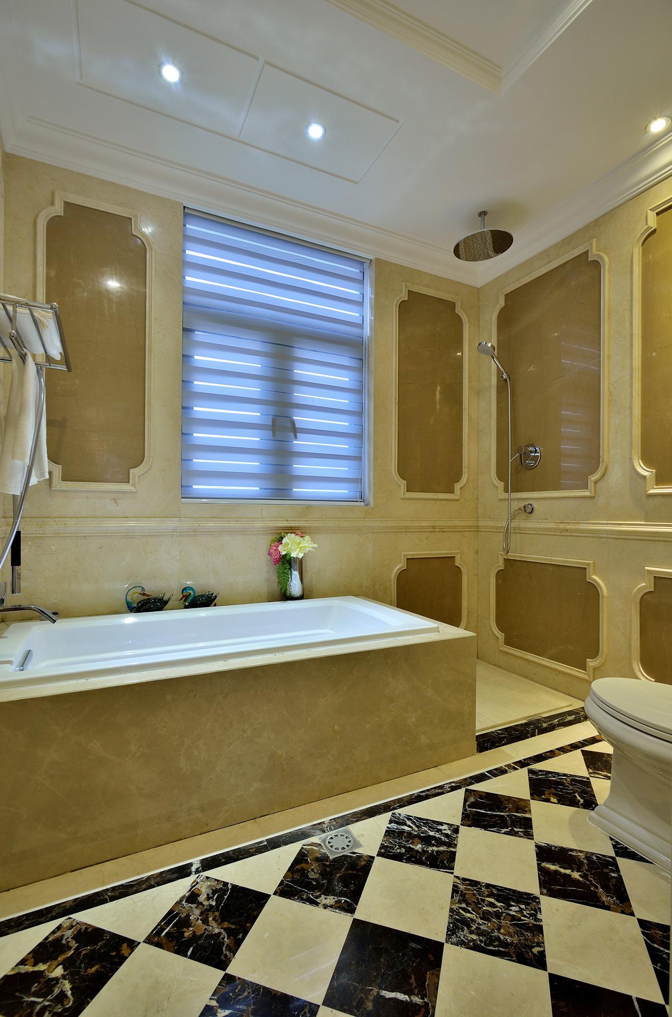 法式别墅装修卫生间效果图