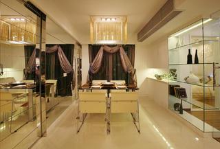 三居室混搭之家窗帘图片