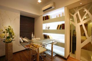 三居室混搭之家书房布置图