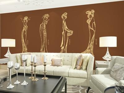 净卫士硅藻泥 客厅沙发背景墙系列