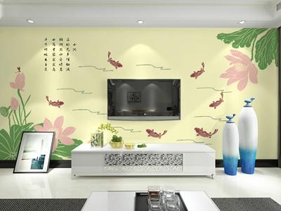 净卫士硅藻泥 客厅电视背景墙系列【图片