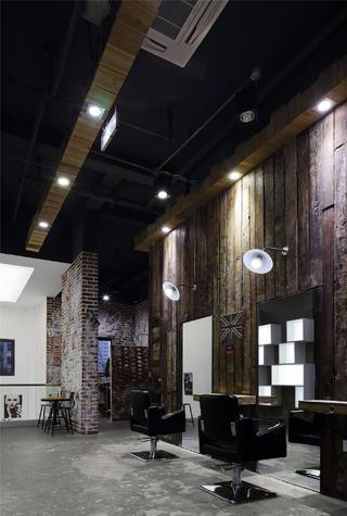 极简美发造型室装修局部墙面设计