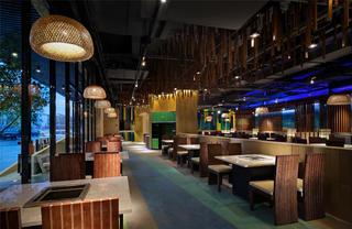 个性化艺术餐厅设计整体布局图